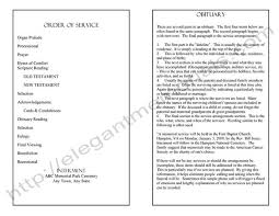 Templates For Funeral Program Funeral Program Template Sample Simple Funeral Program