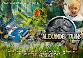 Personalised Birthday Invitation Cards Personalised Boys Lego Jurassic World Birthday Party Thank You