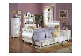 Youth Bedroom Furniture Sets 01010 Acme Furniture Kids Bedroom Set Sleigh Bed Pearl Finish