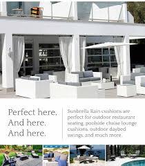 Poolside Seat Cushion Sunbrella Rain Cushions Add Fast Drying Convenience To Outdoor