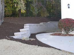 retaining wall lights under cap pre cast interlocking concrete retaining walls landscape service