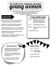 young women newsletter template free download editable pdf