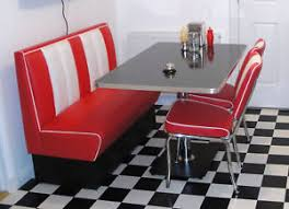 american table and chairs retro furniture 50s american diner restaurant kitchen half booth