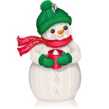 hallmark 2014 comfy cozy snowman ornament qgo1573 available in october