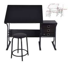 Drafting Table Pad Adjustable Drawing Desk Drafting Table Tempered Glass Top