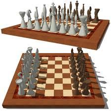 chess set b 3d model formfonts 3d models u0026 textures