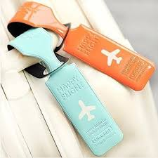 travel tags images Happy flight designer luggage suitcase tags freedom travel gear jpg