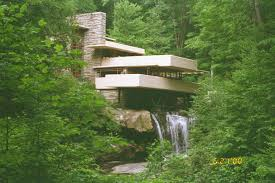 fallingwater frank lloyd wright kaufmann house above the waterfall