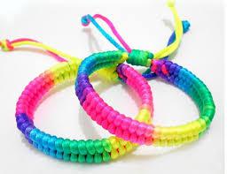 color string bracelet images 2015hot sale rainbow color friendship bracelets for women weave jpg