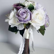 artificial wedding bouquets vintage silk flowers light purple artificial wedding bouquets