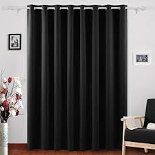 Black Curtains Bedroom Deconovo Grommet Top Blackout Curtains Wide Curtains