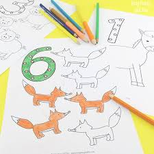 easy peasy coloring page animals number coloring pages easy peasy and fun