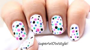 polka dots nail art how to use dotting tool video dailymotion