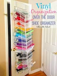 htv and vinyl storage in an over the door shoe organizer bigger