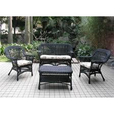 Textilene Patio Furniture by Chicago Wicker 4 Pc Mackinac Wicker Patio Furniture Collection