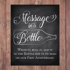 message in a bottle wedding rustic wedding guest book sign message in a bottle anniversary