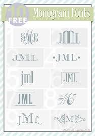 top 10 free monogram fonts moritzfineblogdesigns