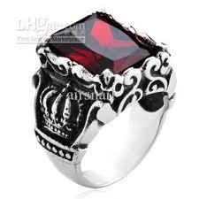 gothic rings men images 2018 men 39 s royal gothic gemstone titanium stainless steel rings jpg