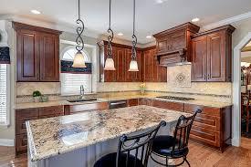 steve terri s kitchen remodel pictures home remodeling kitchen remodeling ideas dark wood cabinetry light granite aurora naperville il illinois sebring services
