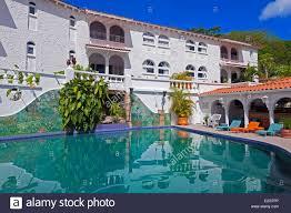 grenada island grand anse bay mount cinnamon hotel stock photo