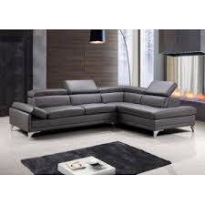 canapé d angle en cuir gris envie de meubles canapé d angle cuir gris taupe aero position