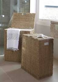 Laundry Hamper Double by Lined Rectangular Gebang Laundry Basket The Holding Company