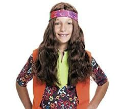 bandana hippie hippie child wig with bandana toys