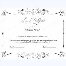 free certificate templates at document templates