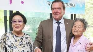 Comfort Women Japan Ex German Chancellor Schröder U2032s U2032comfort Women U2032 Visit Angers Japan