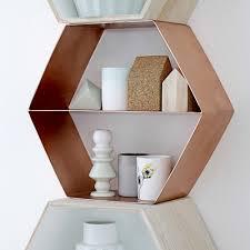 etagere maison bloomingville acheter bloomingville étagère hexagonale cuivre amara