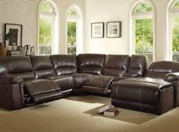 Sectional Reclining Sofa With Chaise Product Reviews Buy Homelegance 6 Piece Faux Pu Leather