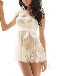 wedding sleepwear ruzishun women s white lace nightwear