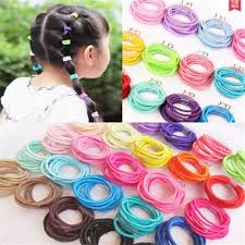 hair tie holder girl kids elastic tiny hair tie band rope ring ponytail