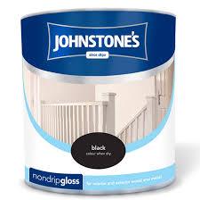 Black Exterior Gloss Paint - johnstone u0027s non drip gloss paint black 2 5l diy