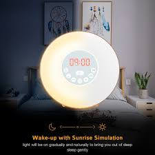 Schlafzimmer Beleuchtung Sch Er Wohnen Amazon De Holz Wake Up Licht Lichtwecker Coulax Wecker