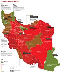 Election Map Results by The Iranian Election Results By Province News Theguardian Com