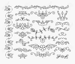 ornament monoline floral elements free ornament vector