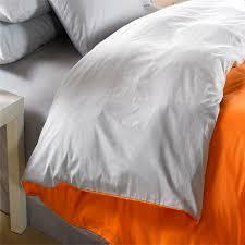 orange silver grey bedding set king size queen quilt doona duvet