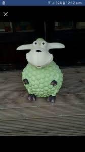 garden sheep ornaments 55cm length 45cm wide in blaina blaenau
