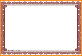 free certificate border templates for word free loan agreement