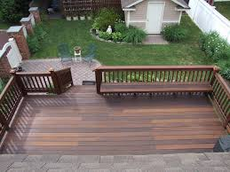 Ipe Bench Ipe Deck With Built In Bench Traditional Deck Newark By