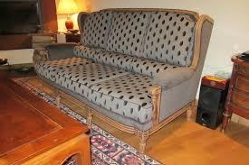 canape tissu rayures pois et velours mat ont remplacé les rayures très chic côté