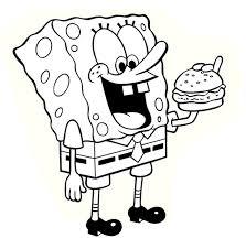 spongebob coloring page online 8464
