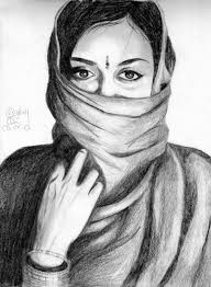pencil sketches of women hand drawn pencil sketch of the face of a