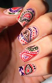 ehmkay nails hand painted paisley nail art with jessica autumn in