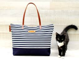 nautical bags stripe tote bag navy and whiteexpress shipping bag
