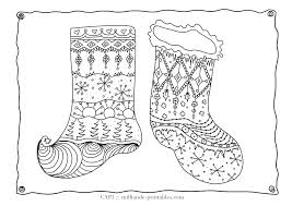 christmas coloring page stocking milliande u0027s free christmas