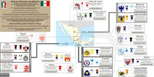 Vera Cruz Mexico Map by Mexico Primera Division 2009 Clausura Map And Club Profiles
