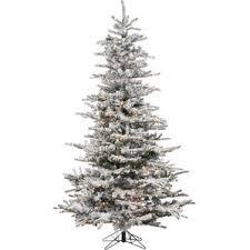 pre lit flocked christmas tree wayfair