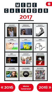 Meme Calendar - according to meme calendar app this is 2017 9gag